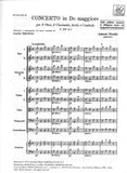 Vivaldi, Antonio % Concerto in C Major F12 #2 (Score Only)-2OB/2CL/STGS/Basso Continuo
