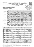Vivaldi, Antonio % Concerto in D Major F7 #10 RV453 (Score Only)- OB/STGS