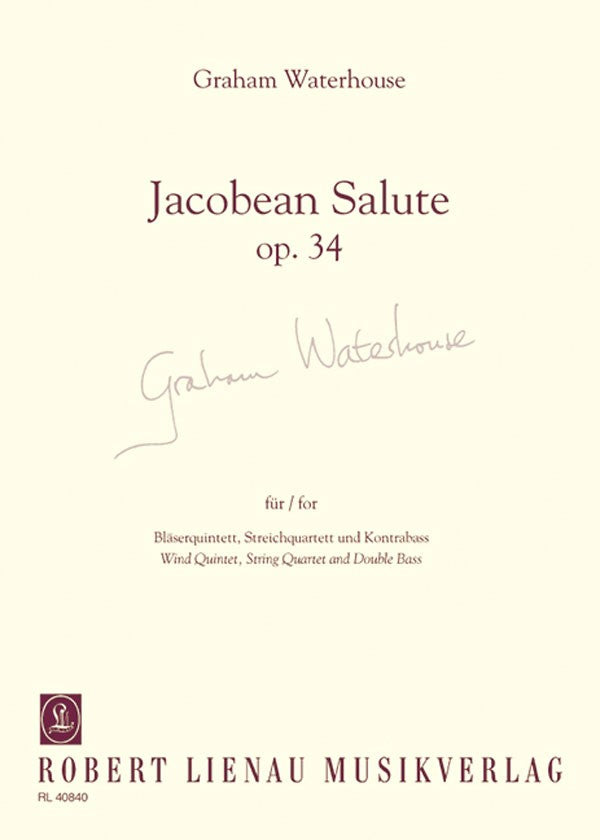 Waterhouse, Graham % Jacobean Salute Op 34 (Score Only)-WW5/STG4/KB