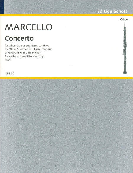 Marcello Oboe Concerto d minor SHT - Cover