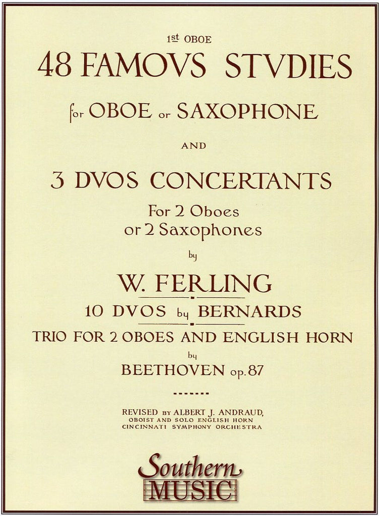 Ferling % 48 Famous Studies 1st PT-OB or SAX