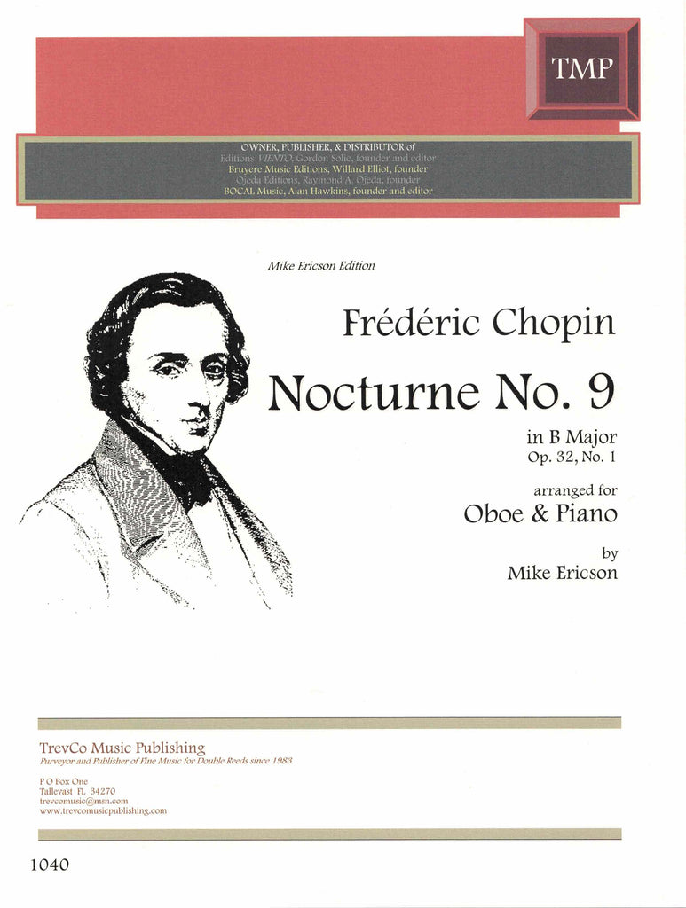 Chopin, Frederic % Nocturne #9 in B Major Op 32 #1-OB/PN