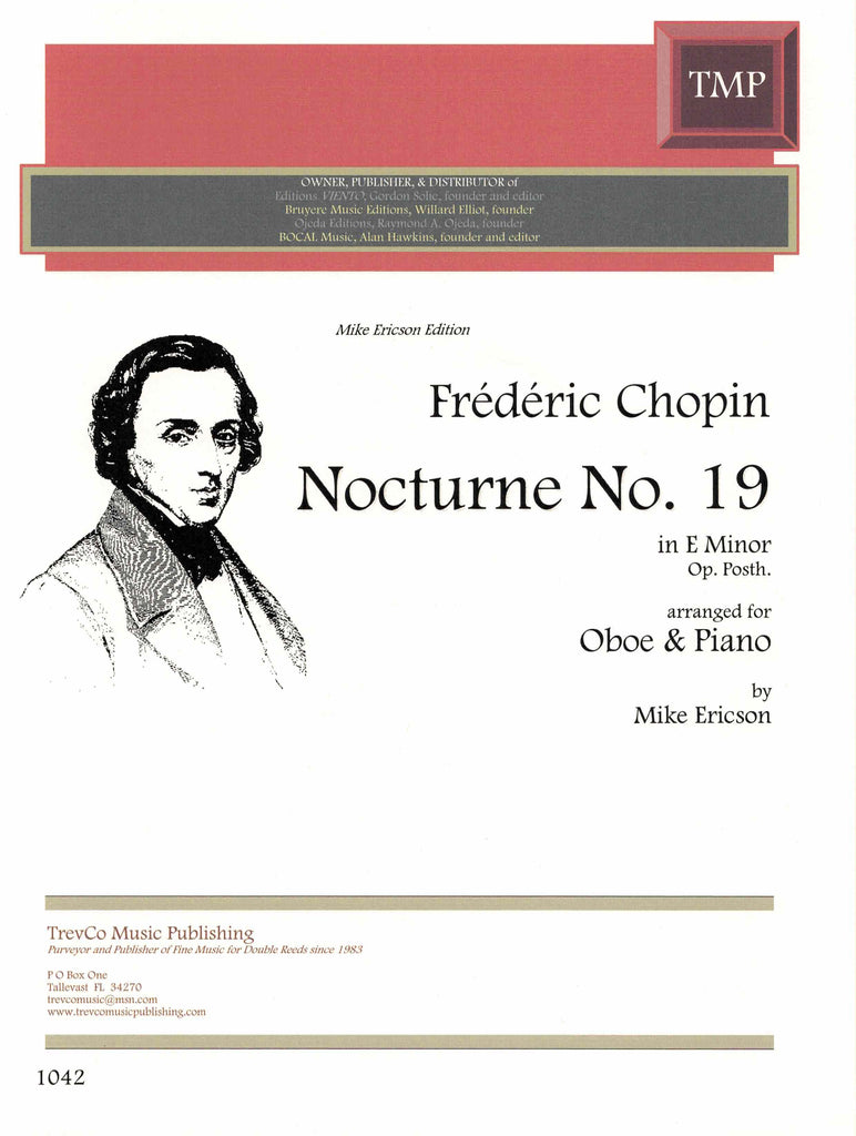 Chopin, Frederic % Nocturne #19 in e minor-OB/PN