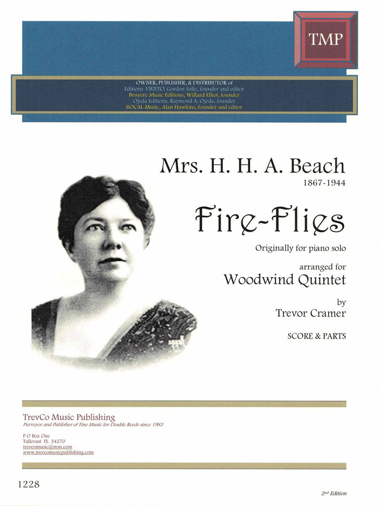 Beach, Amy % Fire-Flies (Score & Parts)-WW5