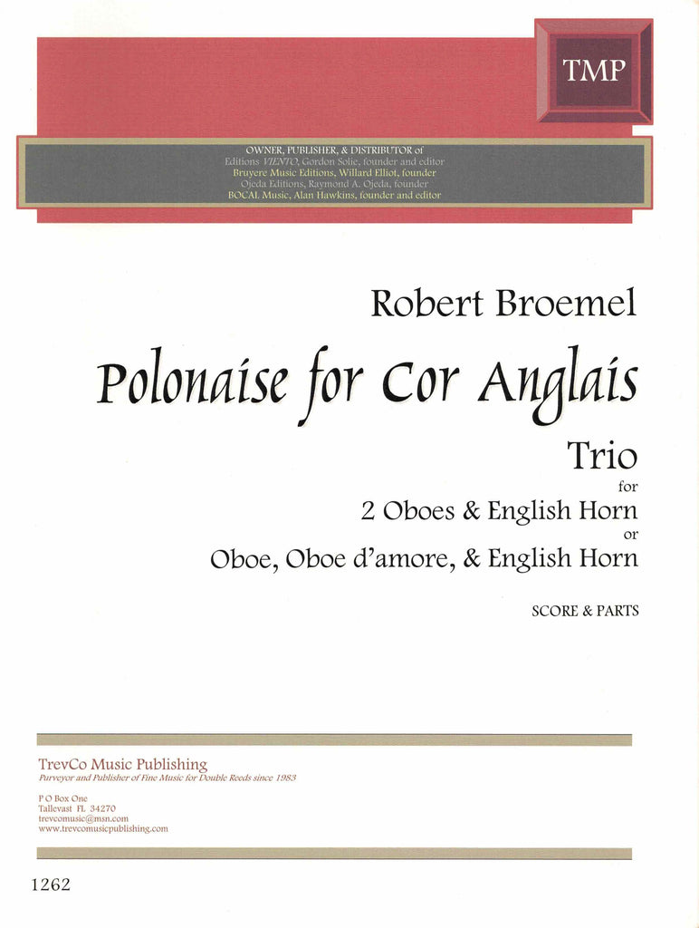 Broemel, Robert % Polonaise for Cor Anglais (Score & Parts)-2OB/EH or OB/OBD'AM/EH