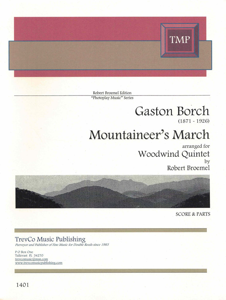 Borch, Gaston % Mountaineer's March (Score & Parts) (Broemel)-WW5
