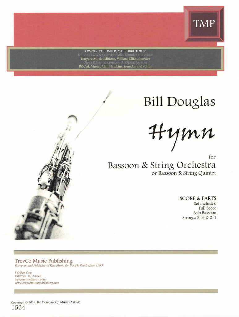 Douglas, Bill % Hymn (Score & Parts)-BSN/STG5 or BSN/ORCH