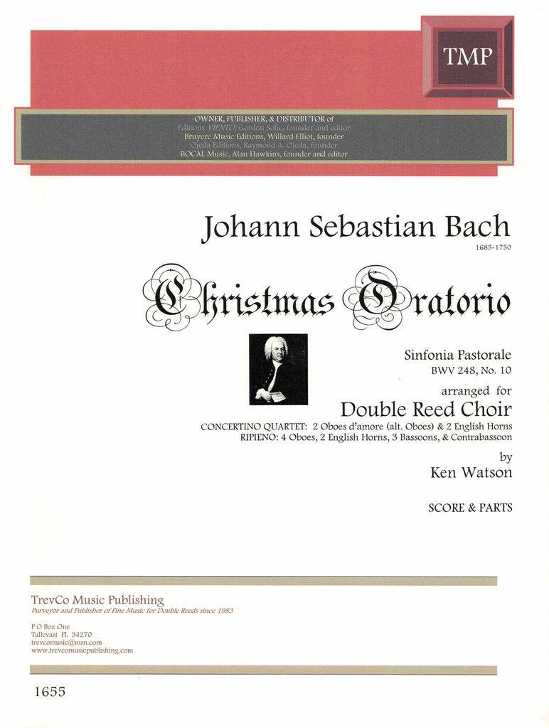 "Bach, JS % Sinfonia Pastorale from the ""Christmas Oratorio"" BWV 248 #10 (Score & Parts)-DR CHOIR"
