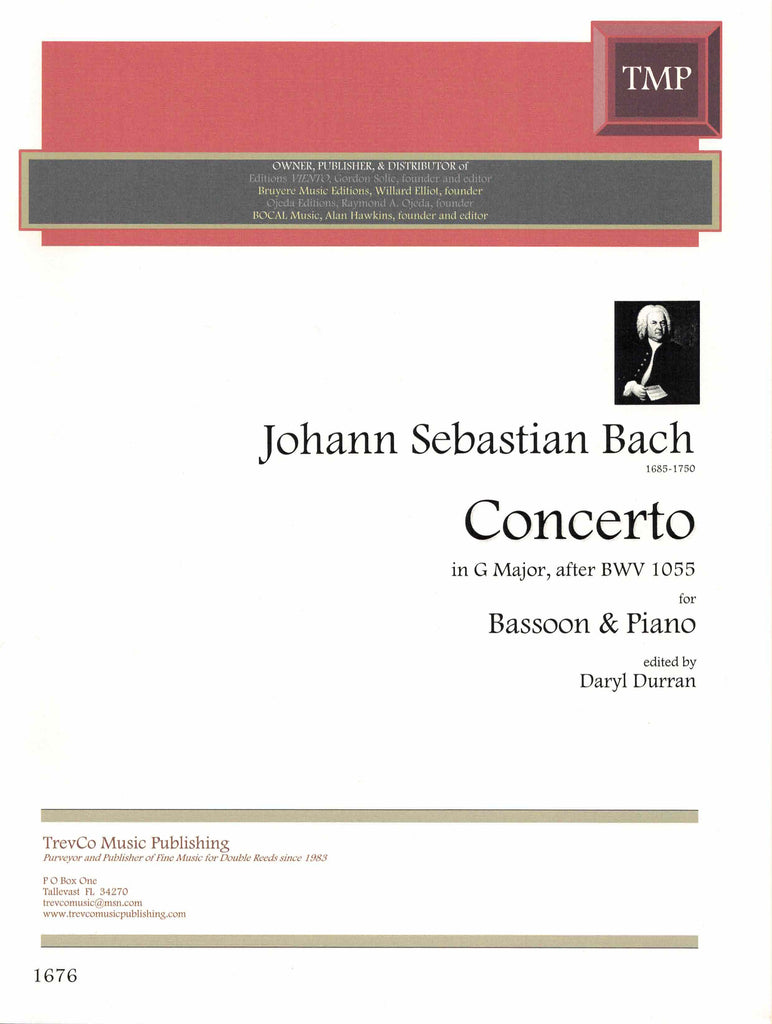 Bach, J.S. % Concerto in G Major after BWV 1055-BSN/PN