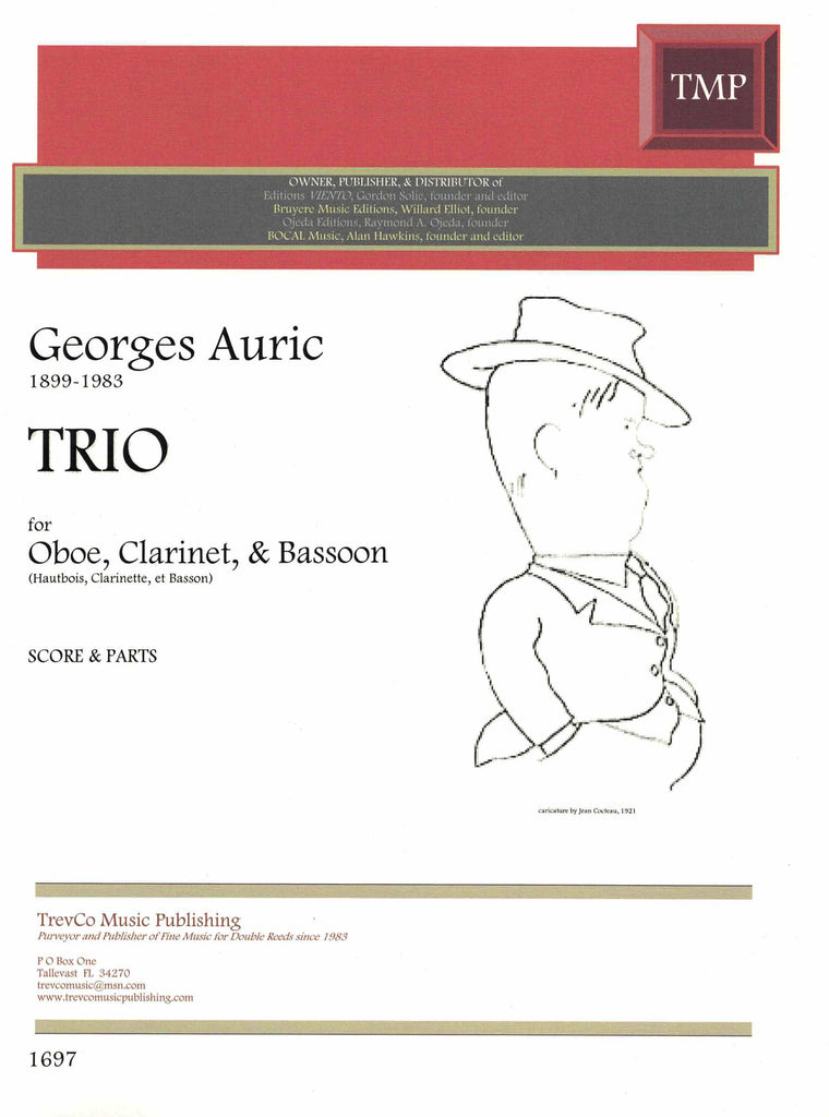 Auric, Georges % Trio (score & parts)-OB/CL/BSN
