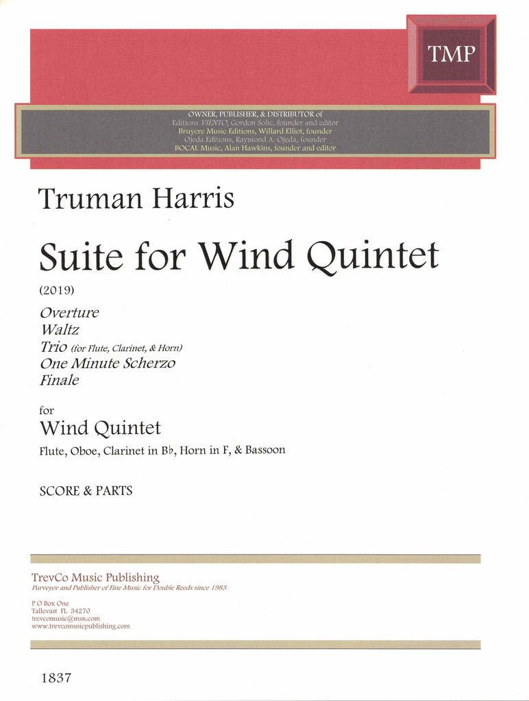 Harris, Truman % Suite for Wind Quintet (Score & Parts)-WW5