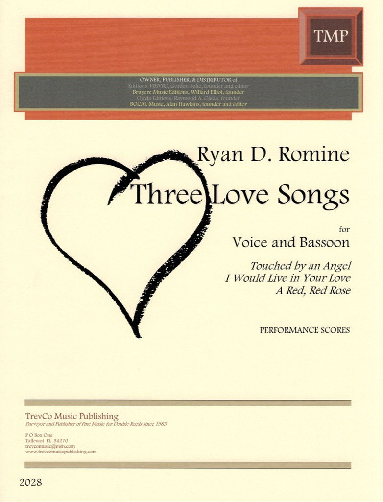 Three Love Songs Performance Scores Bsnvoice Trevco Varner Music