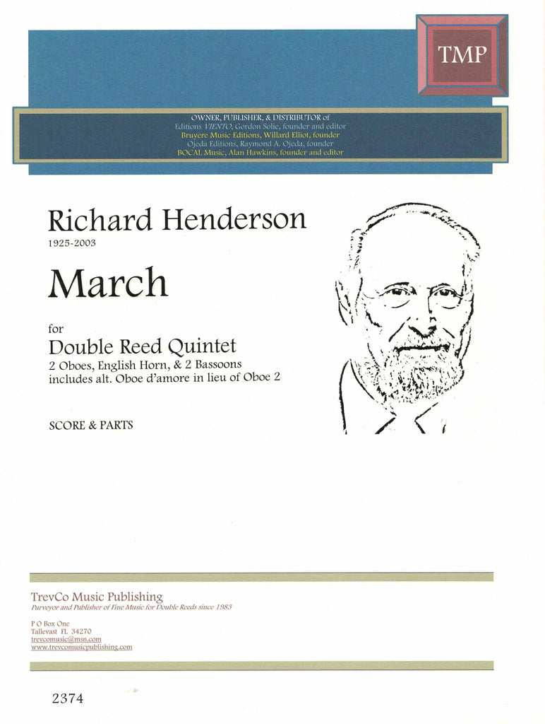 Henderson, Richard % March (Score & Parts)-2OB/EH/2BSN