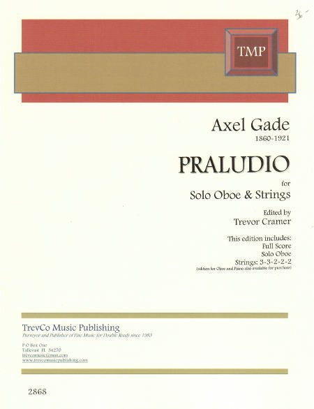 Gade, Axel % Praludio (Score and Set)-OB/STRINGS