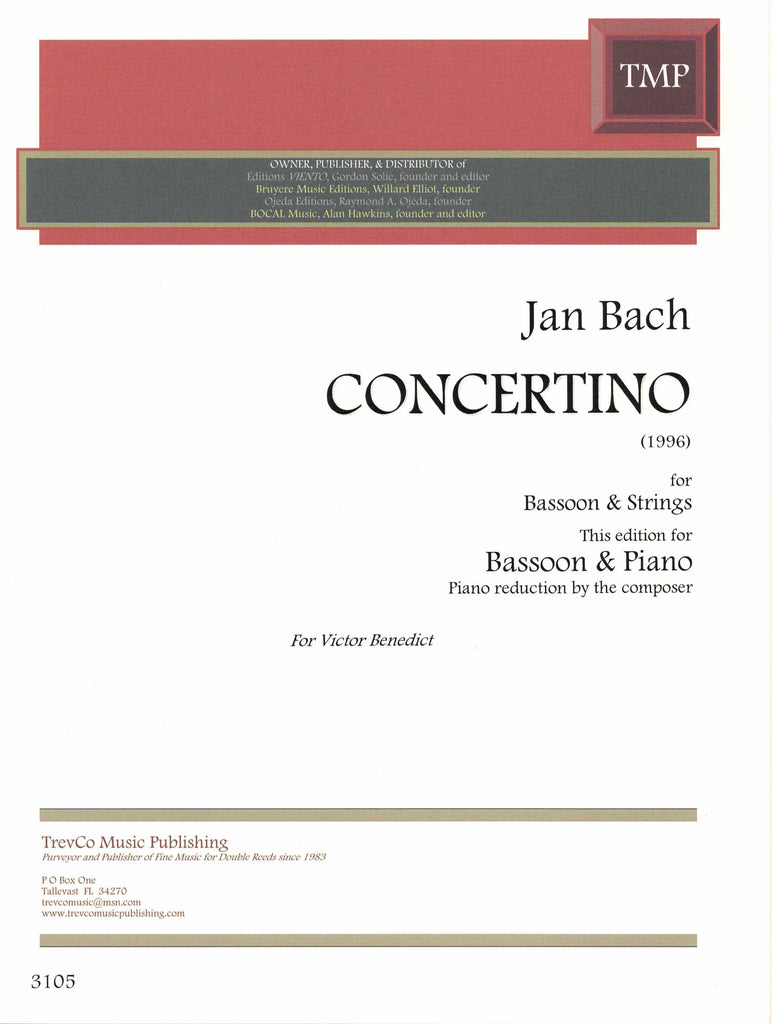 Bach, Jan % Concertino-BSN/PN