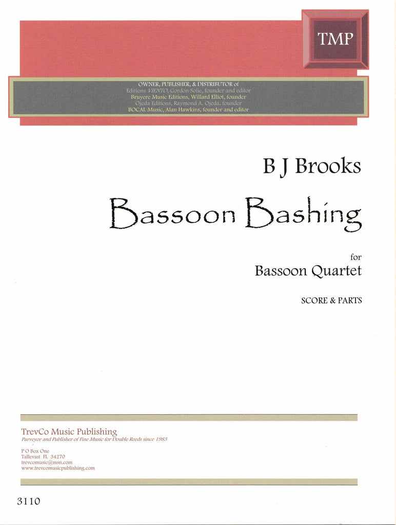 Brooks, BJ % Bassoon Bashing (Score & Parts)-4BSN