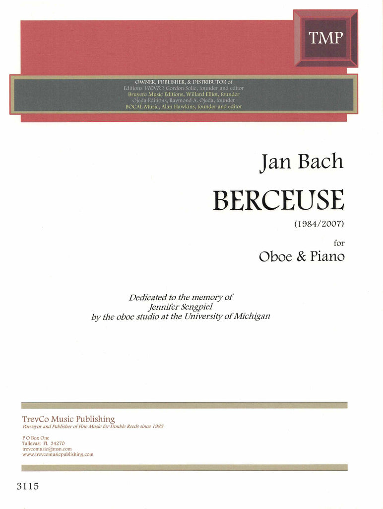 Bach, Jan % Berceuse-OB/PN