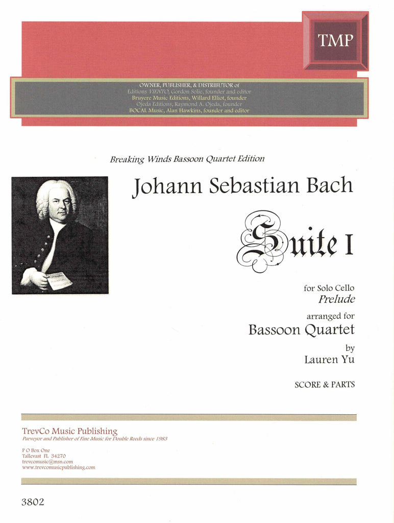 Bach, J.S. % Prelude from the 1st Cello Suite (Score & Parts)-4BSN