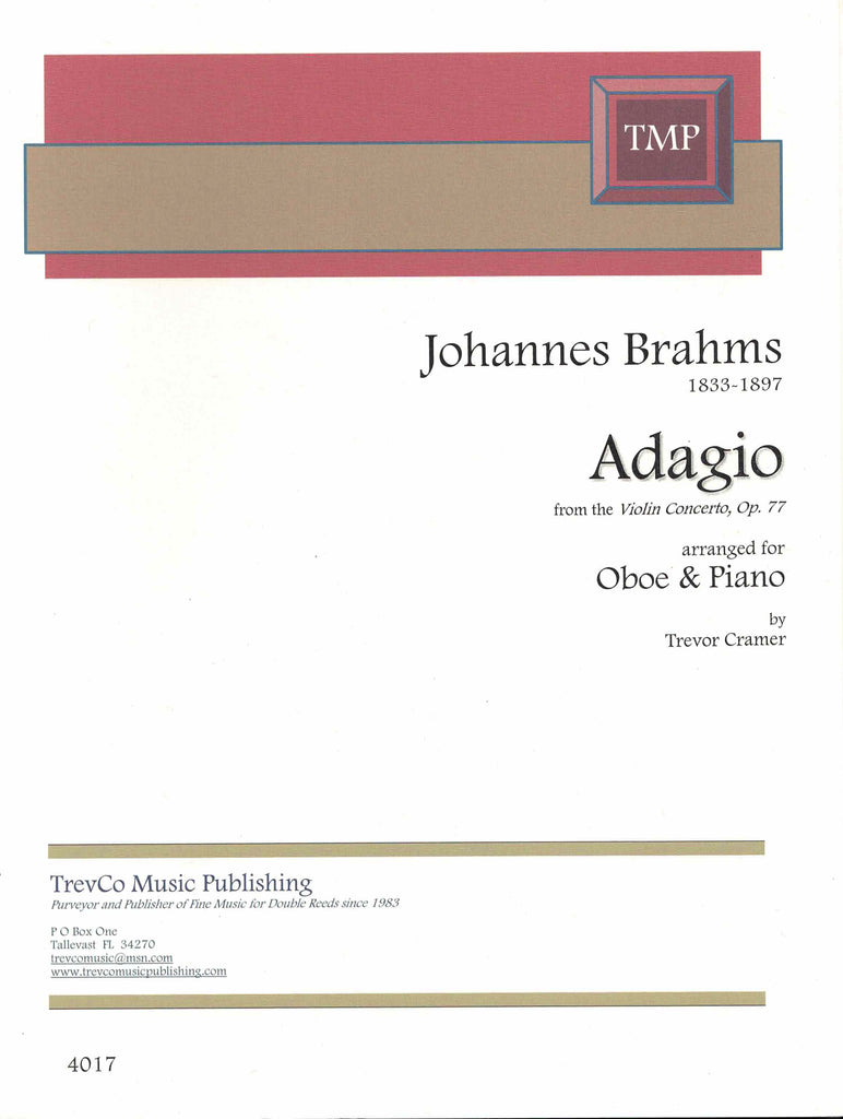 Brahms, Johannes % Adagio from the Violin Concerto Op 77-OB/PN