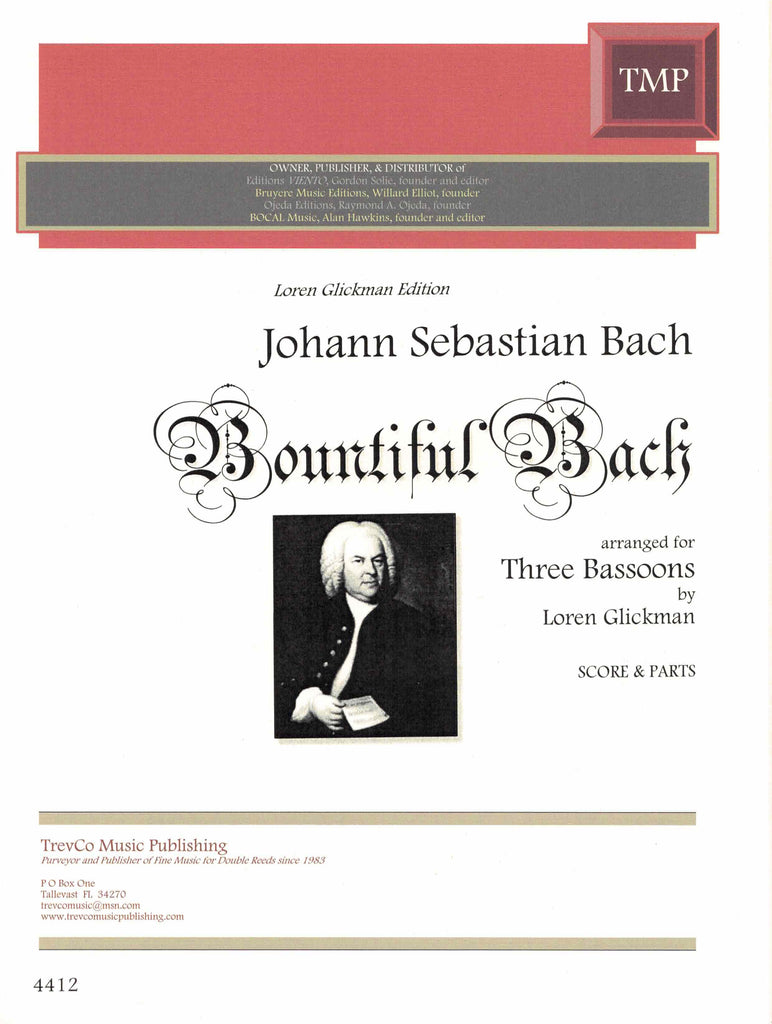 Glickman, Loren % Bountiful Bach (Score & Parts)-3BSN