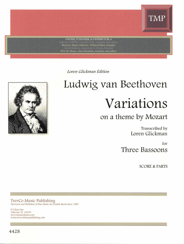Beethoven, Ludwig van % Variations on a Theme by Mozart (Glickman) (Score & Parts)-3BSN
