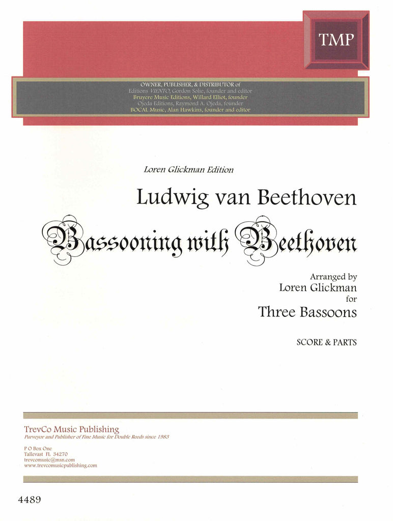 Glickman, Loren % Bassooning with Beethoven (Score & Parts)-3BSN