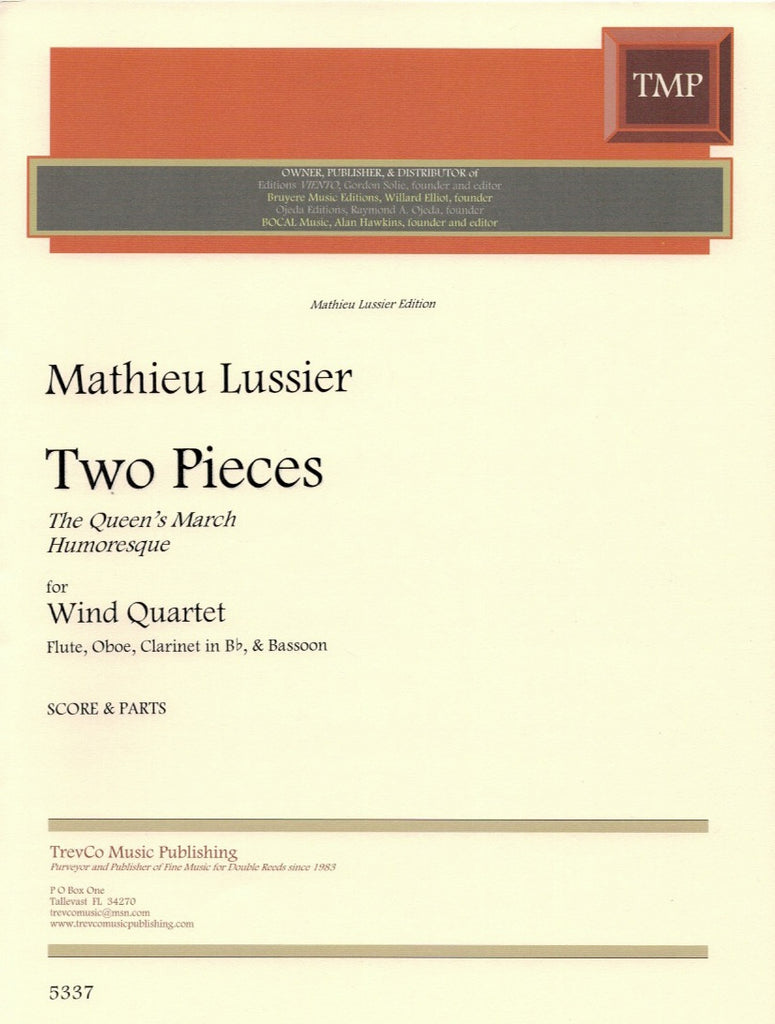 Two Pieces (Score & Parts)-WW4 - TrevCo-Varner Music