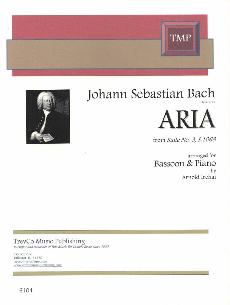 Bach, JS % Aria from Suite #3, S.1068-BSN/PN