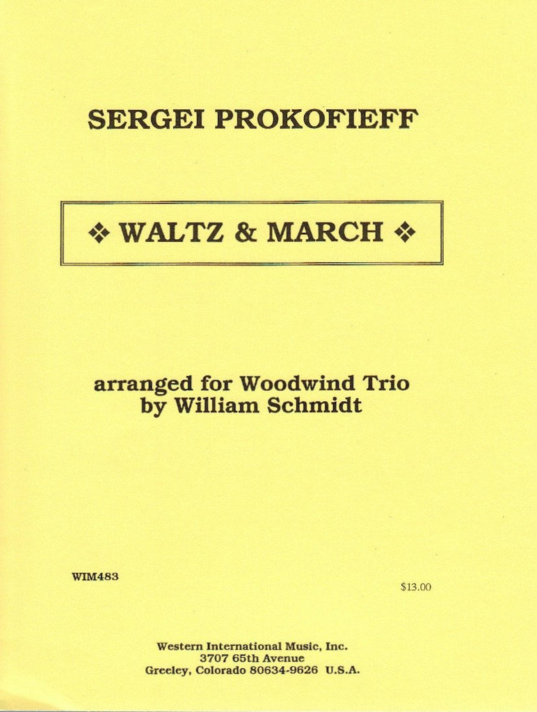 Prokofieff % Waltz & March (Score & Parts)-FL/CL/BSN or OB/CL/BSN