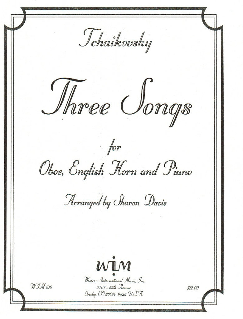 Tchaikovsky % Three Songs-OB/EH/PN