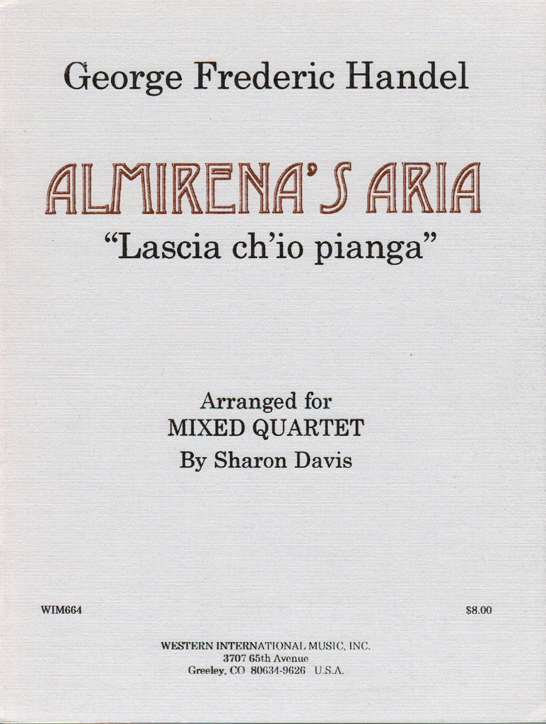 "Handel, Georg Friedrich % Almirena's Aria from ""Rinaldo"" (Score & Parts)-OB/CL/BSN/VLA"