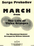 "Prokofieff % March from ""The Love of Three Oranges"" (Score & Parts)-WW5"