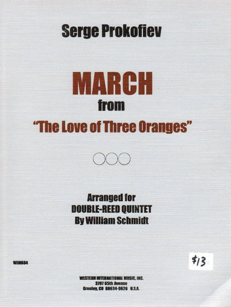 "Prokofieff % March from ""The Love of Three Oranges"" (Score & Parts)-2OB/EH/2BSN"