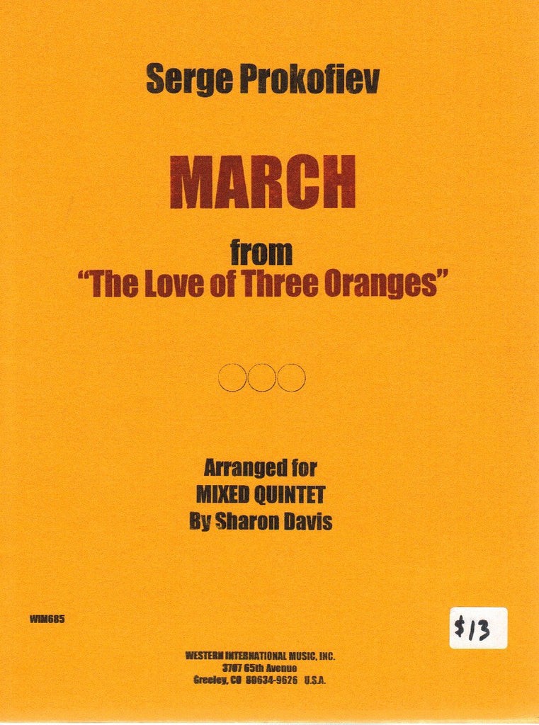 "Prokofieff, Sergei % March from ""The Love of Three Oranges"" (Score & Parts)-OB/CL/HN/VN/VC"