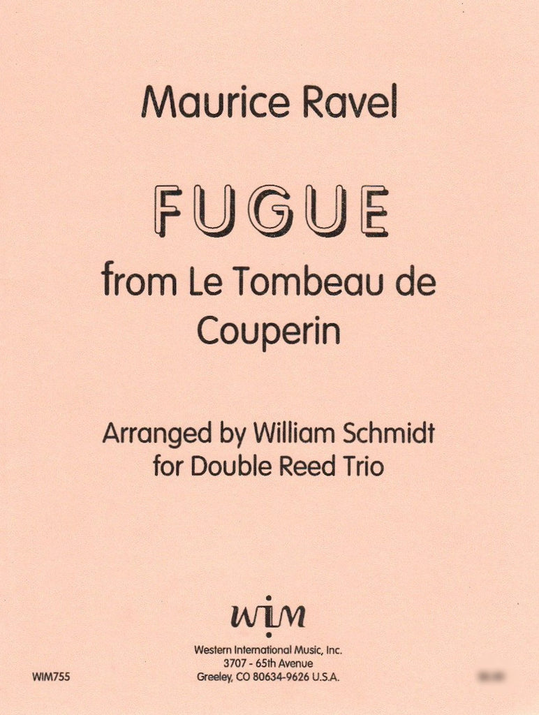 "Ravel, Maurice % Fugue from ""Le Tombeau de Couperin"" (Score & Parts)-2OB/EH"