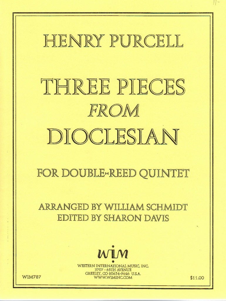 "Purcell, Henry % Three Pieces from ""Dioclesian"" (Score & Parts)-3OB/EH/BSN"