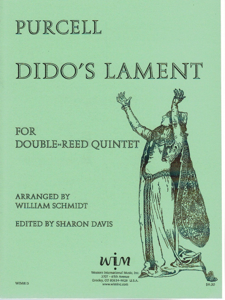 Purcell % Dido's Lament (Score & Parts)-2OB/EH/2BSN