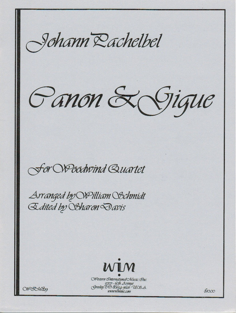 Pachelbel % Canon & Gigue (Score & Parts)-WW4