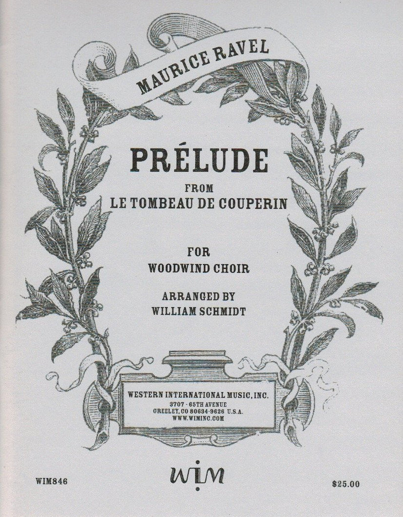 "Ravel % Prelude from ""Le Tombeau de Couperin"" (Score & Parts)-WW CHOIR"
