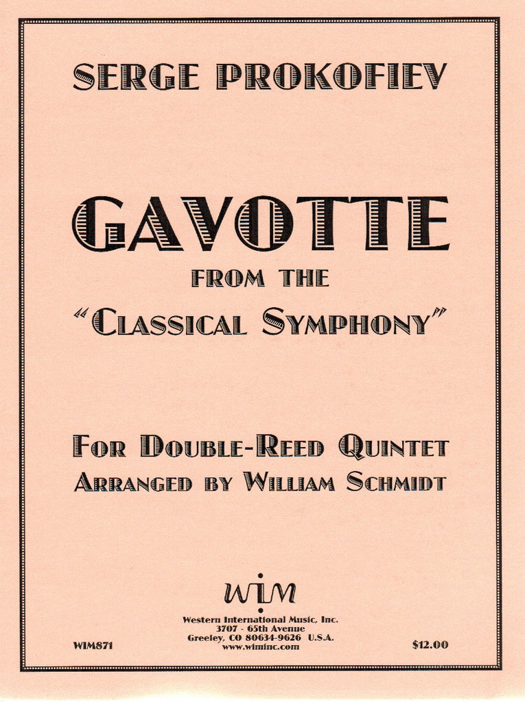 "Prokofieff, Sergei % Gavotte from ""Classical Symphony"" (Score & Parts)-2OB/EH/2BSN"
