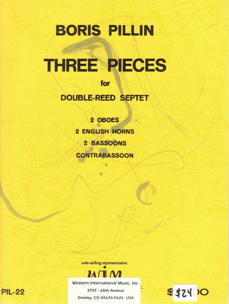 Pillin, Boris % Three Pieces (Score & Parts)-2OB/2EH/2BSN/CBSN