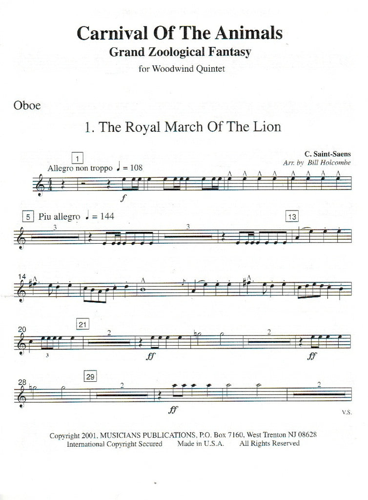 Carnival of the Animals Complete Version (Score - TrevCo