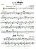 Bach, J.S. % Ave Maria (score & parts)-WW4- see More Information