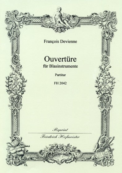 Devienne, François % Overture in F Major (Score Only)-2PICC/2CL/2OB/2HN/2BSN/CBSN/2TPT/TBN/TIMPANI