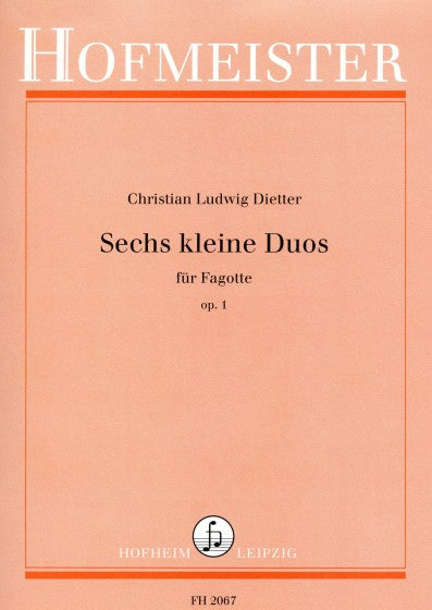 Dietter, Christian Ludwig % Six Little Duos Op 1 (Performance Score)-2BSN