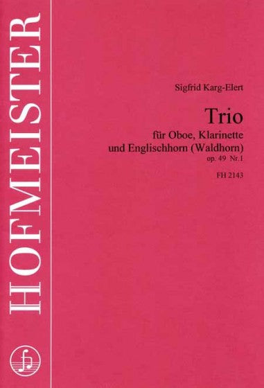Karg-Elert, Sigfrid % Trio (Parts Only)-OB/EH/CL