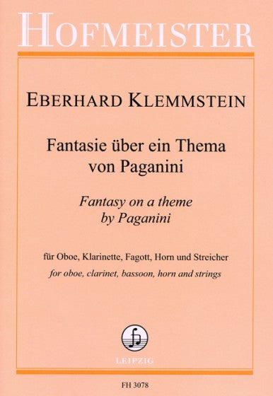 Klemmstein, Eberhard % Fantasy on a Theme by Paganini (Score & Parts)-OB/CL/BSN/HN/ORCH