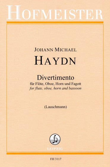 Haydn, Michael % Divertimento in D Major (Parts Only)-FL/OB/BSN/HN