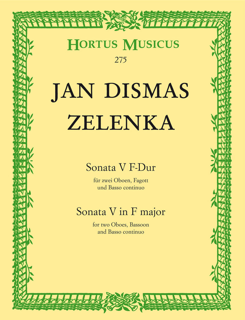 Zelenka, Jan Dismas % Sonata #5 in F Major-2OB/BSN/PN (Basso Continuo)