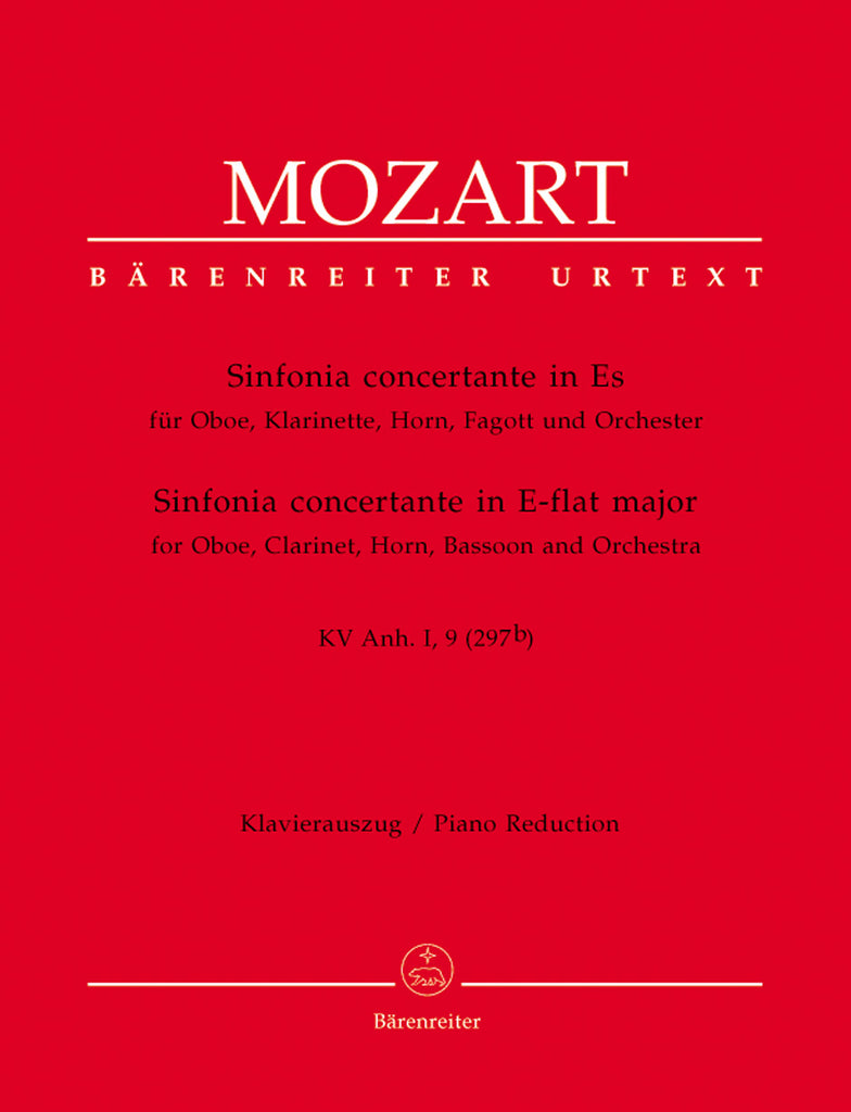 Mozart, Wolfgang Amadeus % Sinfonia Concertante in Eb Major K297-OB/CL/HN/BSN/(PN)